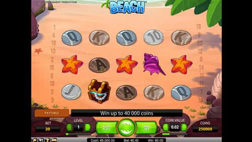 Beach Slot Machine Gameplay