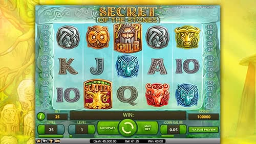 Secret Of The Stones Slot Has 25 Paylines And Lots Of Chances To Get Generous Bonuses