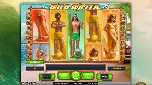 Wild Water slot machine - multiply your wins up to 200 times!