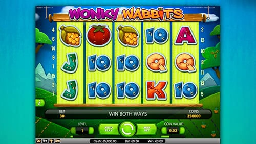 Wonky Wabbits NetEnt video slot theme is taken from cartoon and this fact make gameplay flow faster and easier.