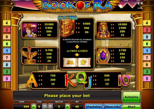 de online casino book of ra free play