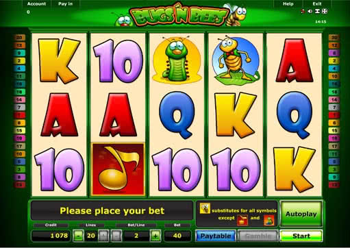 Bugs N Bees Slot - Play this Novomatic Game Free Online
