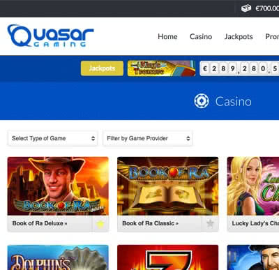 online casino table games quasar