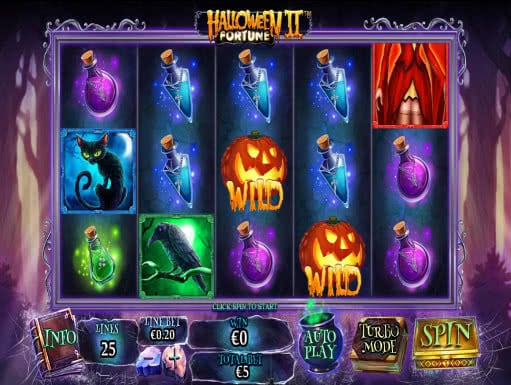the icons in halloween fortune ii slot game include things traditionally being related to the holiday ravens jack o lanterns black cats and scary sculls