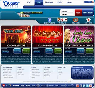 online casino gambling quasar game