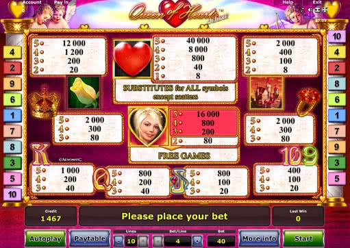 gaminator slots games queen hearts