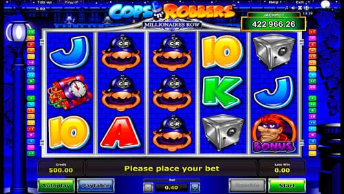 online casino bonus codes cops and robbers slots