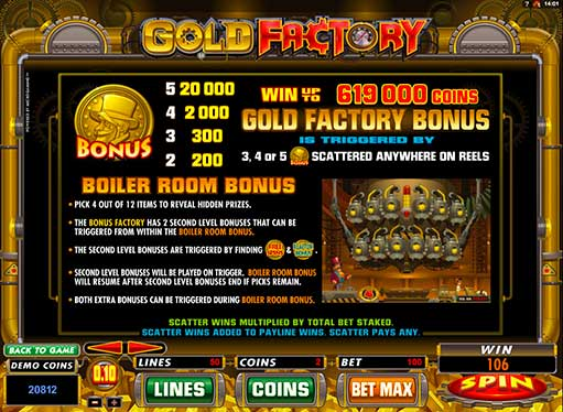 gold factory free games