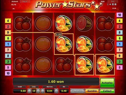 free slot power stars