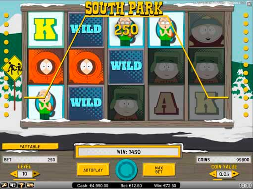 old south park slot machine