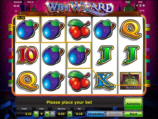 test online casino wizards win