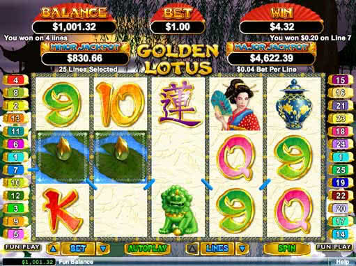 free play lotus flower slot games