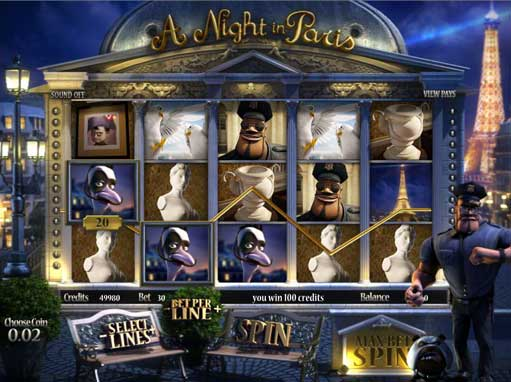 A Night in Paris slot game