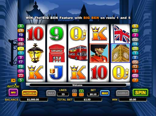 Play Big Ben slot machine online