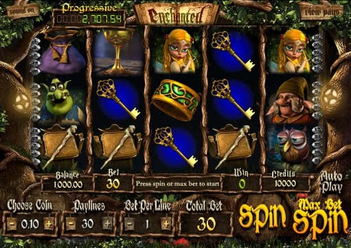 Gamble Enchanted slot machine for free