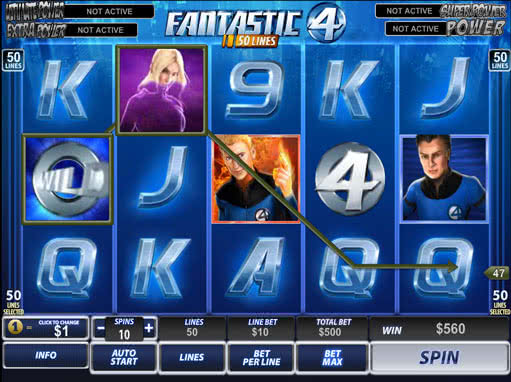 Fantastic 4 Casino Games