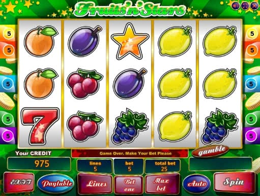 Enjoy free Fruits n Stars slot