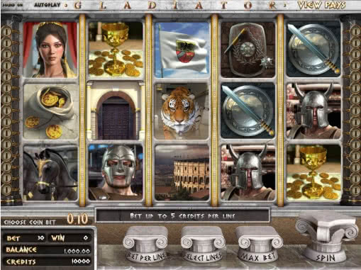 Test Gladiator slot machine by Betsoft