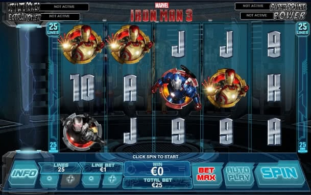 Gamble Iron Man 3 slot machine