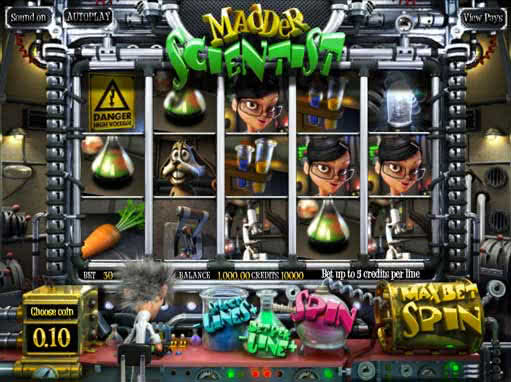 Madder Scientist Slots - Play for Free & Win for Real