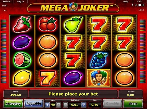 start online casino mega joker