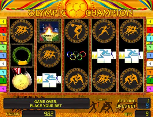 Olympic Champion slot game demo