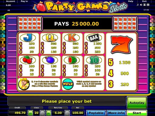 Gamble Party Games Slotto for free