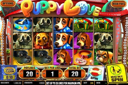 Gamble Puppy Love slot machine online