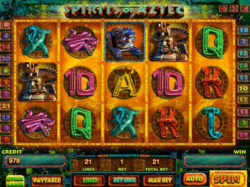Online Spirits of Aztec slot for fun