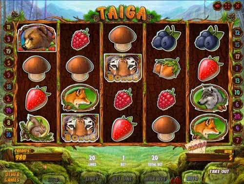 Play Taiga slot game online