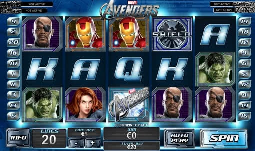 Gamble the Avengers slot machine online