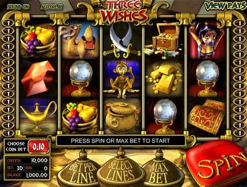 Test Three Wishes slot game