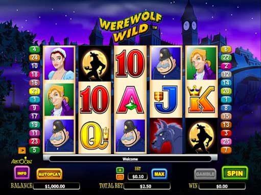 Play Werewolf Wild slot machine online