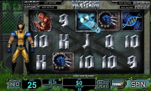 Play Wolverine slot machine online